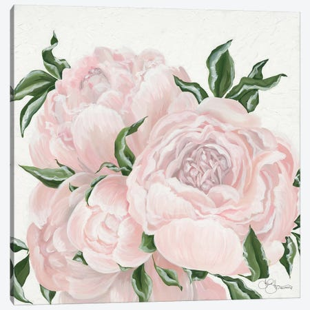 Pink Flowers Canvas Print #HOA35} by Hollihocks Art Canvas Art Print