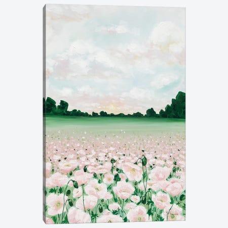 Pink Poppies Canvas Print #HOA36} by Hollihocks Art Art Print