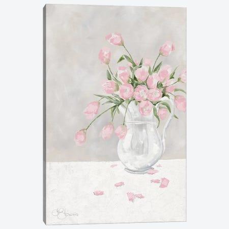 Pink Tulips Canvas Print #HOA37} by Hollihocks Art Art Print