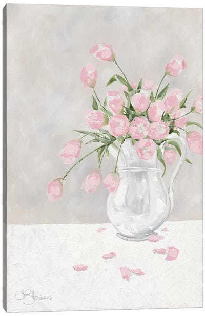 Pink Tulips Canvas Art Print