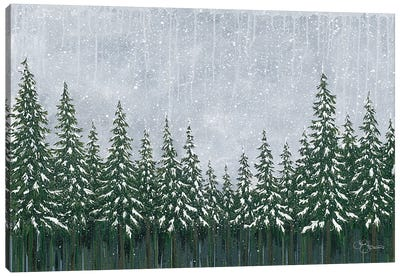 Snowy Forest Canvas Art Print