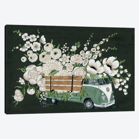 VW Bus Black Canvas Print #HOA40} by Hollihocks Art Art Print