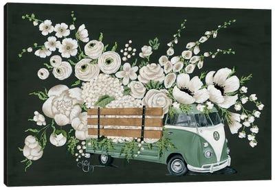 VW Bus Black Canvas Art Print