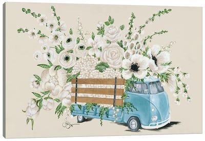 VW Bus White   Canvas Art Print