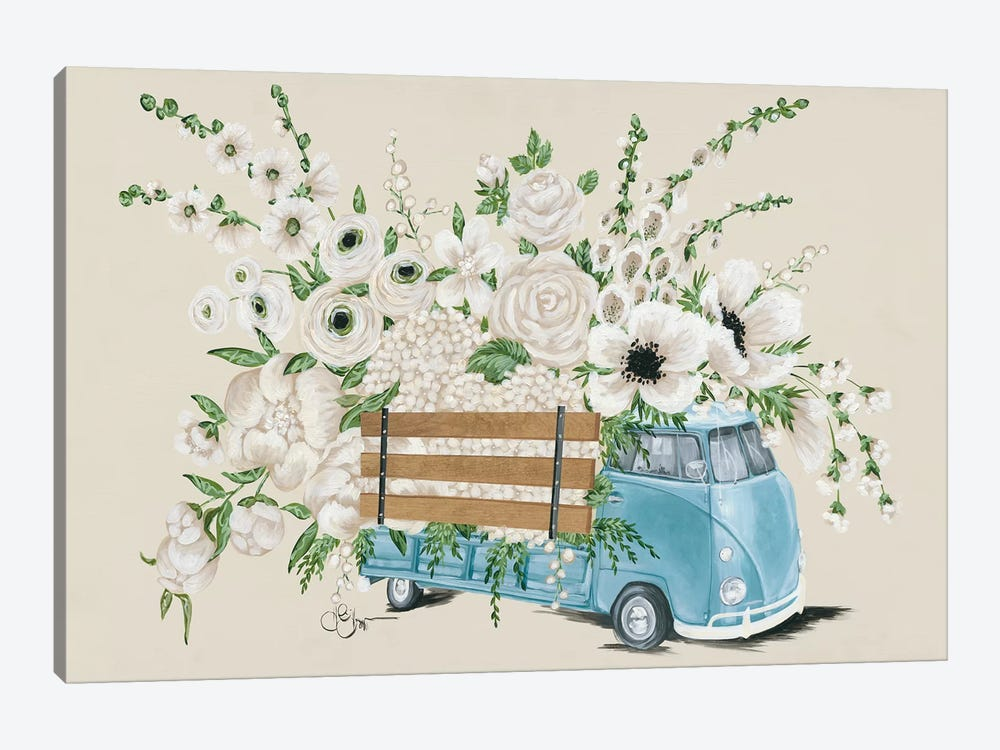 VW Bus White   by Hollihocks Art 1-piece Art Print