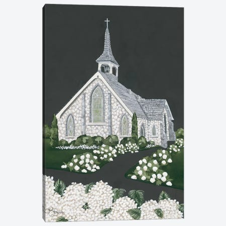 White Church Canvas Print #HOA44} by Hollihocks Art Canvas Artwork