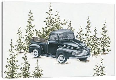Christmas Tree Shopping Canvas Art Print
