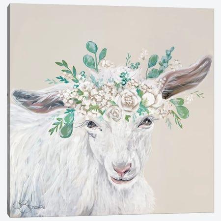 Faith the Goat Canvas Print #HOA48} by Hollihocks Art Canvas Print