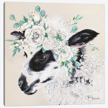 Grace the Lamb Canvas Print #HOA49} by Hollihocks Art Art Print