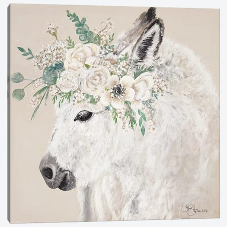 Hope the Donkey Canvas Print #HOA51} by Hollihocks Art Canvas Wall Art