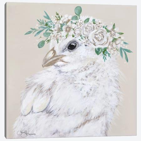Joy the Chick Canvas Print #HOA52} by Hollihocks Art Canvas Wall Art