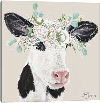 Patience the Cow Canvas Art Print
