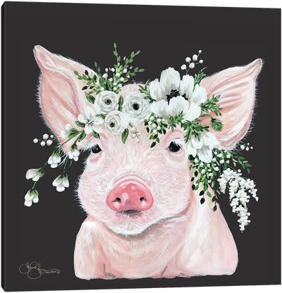 Poppy the Pig Canvas Art Print