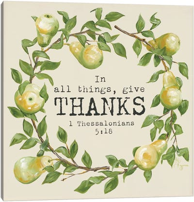 Give Thanks Canvas Art Print