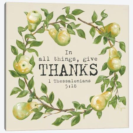Give Thanks 3-Piece Canvas #HOA5} by Hollihocks Art Canvas Art Print
