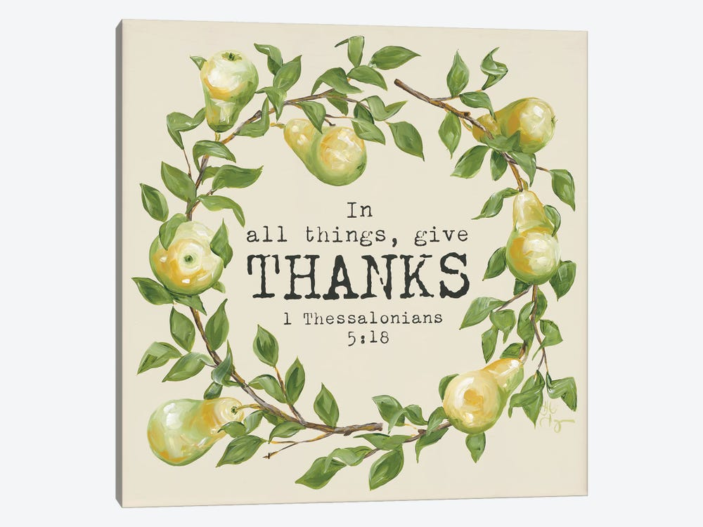 Give Thanks by Hollihocks Art 1-piece Canvas Wall Art