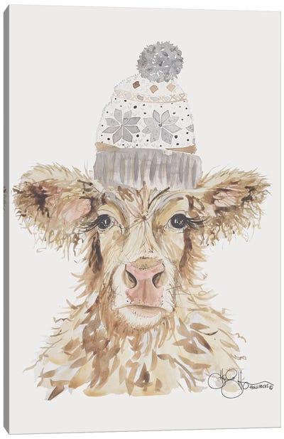 Cozy Cow   Canvas Art Print