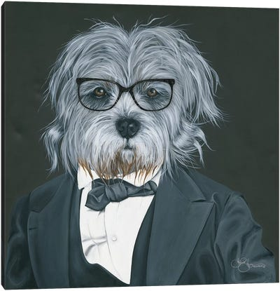Dog In Suit Canvas Art Print