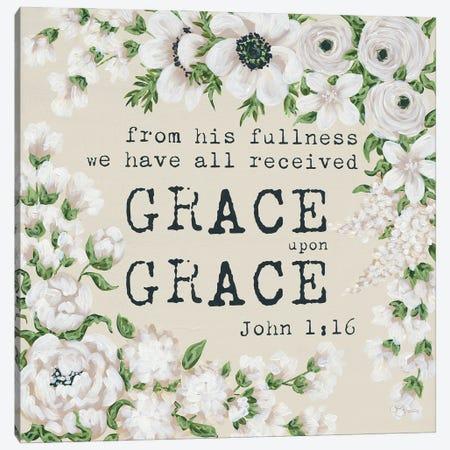 Grace Upon Grace Canvas Print #HOA64} by Hollihocks Art Canvas Wall Art