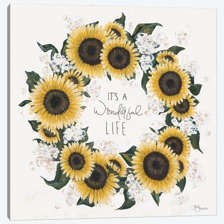 It's A Wonderful Life Wreath Canvas Print #HOA65} by Hollihocks Art Canvas Art