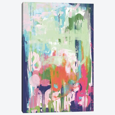 Floral Abstract Canvas Print #HOB112} by Dan Hobday Canvas Artwork