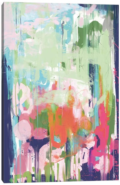 Floral Abstract Canvas Art Print