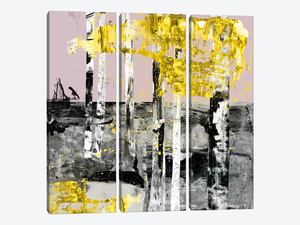 Autumn Birch Forest by Dan Hobday 3-piece Canvas Art