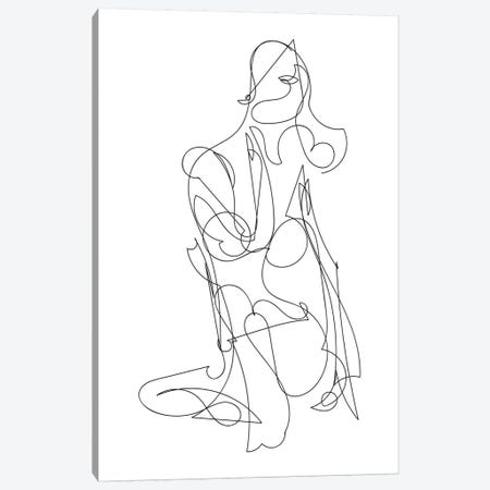 Woman Canvas Print #HOB121} by Dan Hobday Canvas Art Print