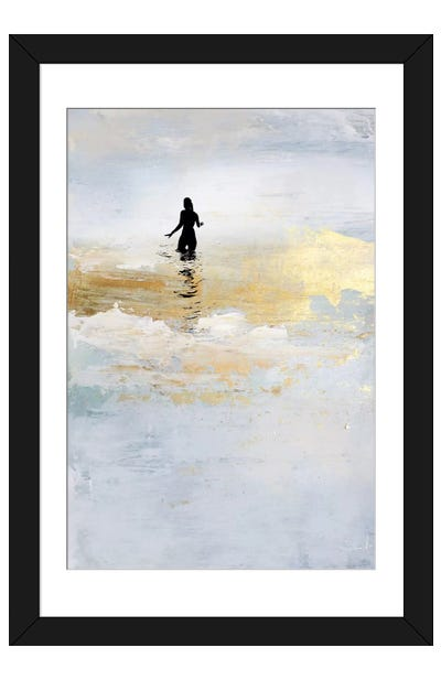 Sun Dip Framed Art Print