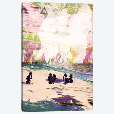 Beach Day Canvas Print #HOB14} by Dan Hobday Canvas Wall Art