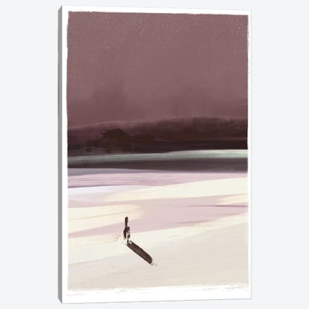 Beach Figure Canvas Print #HOB15} by Dan Hobday Canvas Artwork