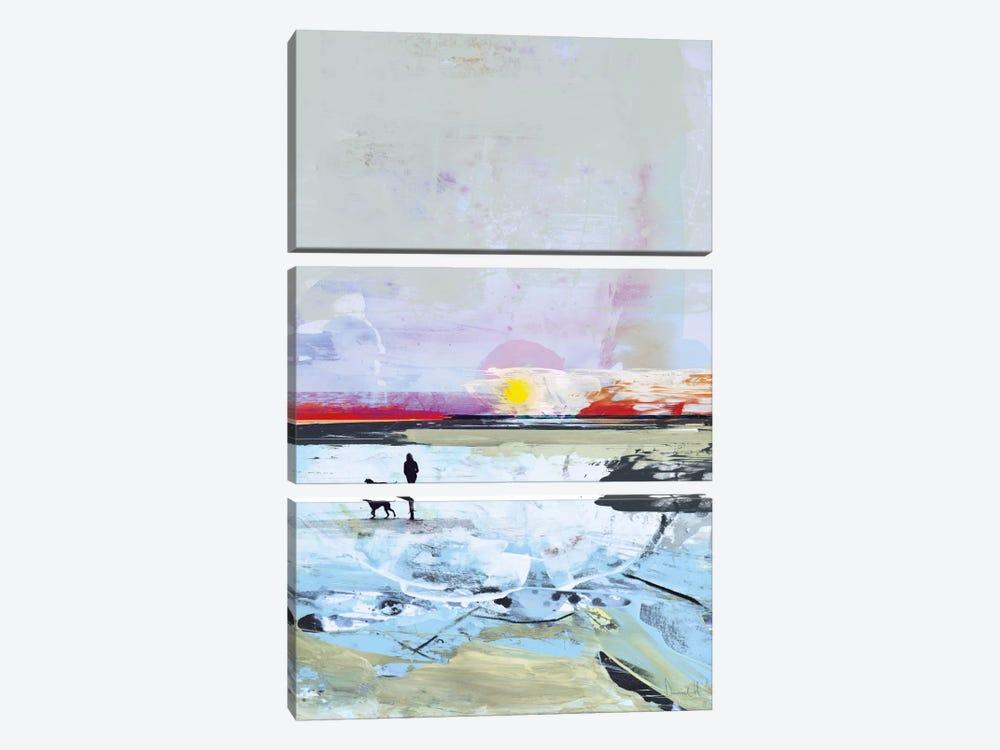 Beach Walk by Dan Hobday 3-piece Canvas Art Print