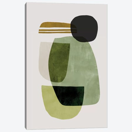 Green Abstract Canvas Print #HOB171} by Dan Hobday Canvas Artwork