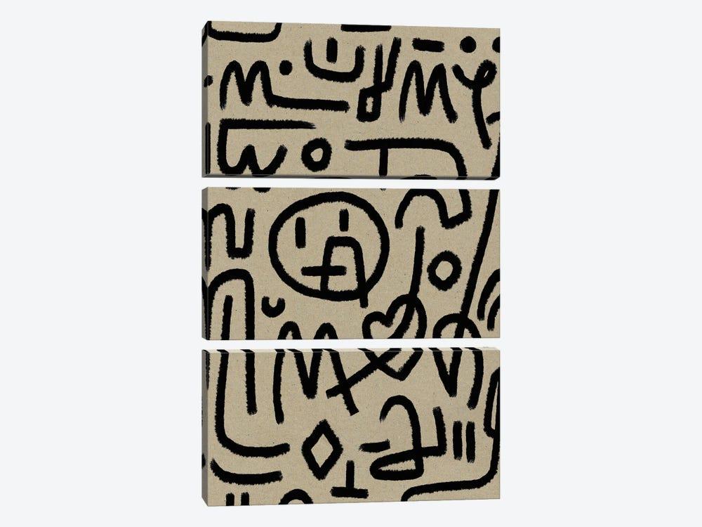 Coded by Dan Hobday 3-piece Canvas Print