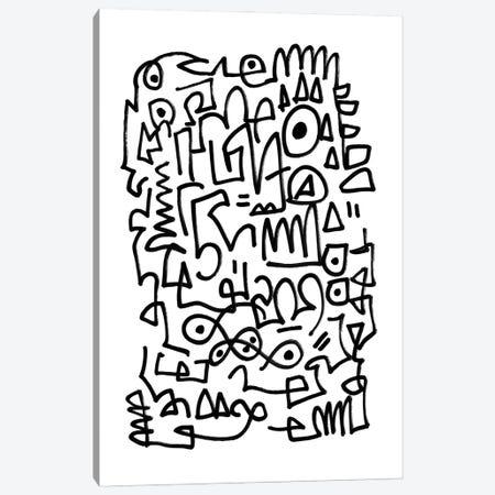 Wiggle Canvas Print #HOB203} by Dan Hobday Canvas Wall Art