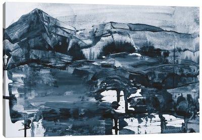 Cobalt Land Canvas Art Print