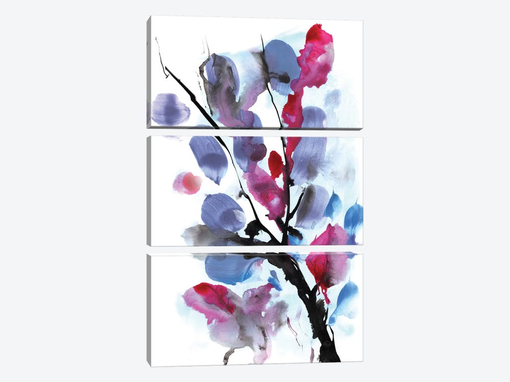 Floral I by Dan Hobday 3-piece Canvas Art Print