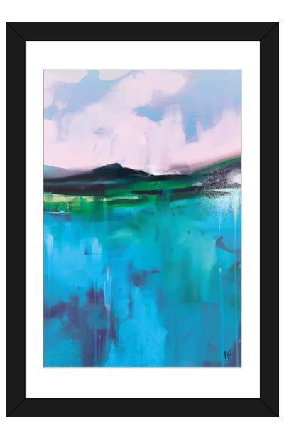 Land II Framed Art Print