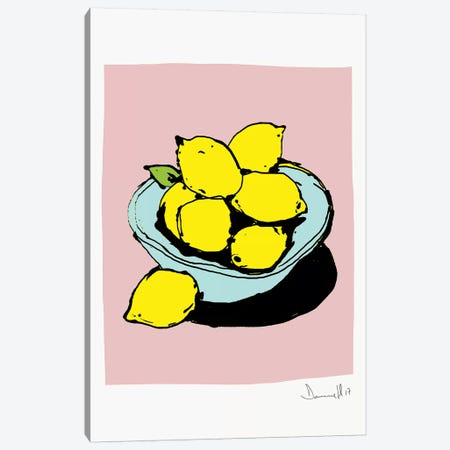 Lemons Canvas Print #HOB55} by Dan Hobday Canvas Artwork