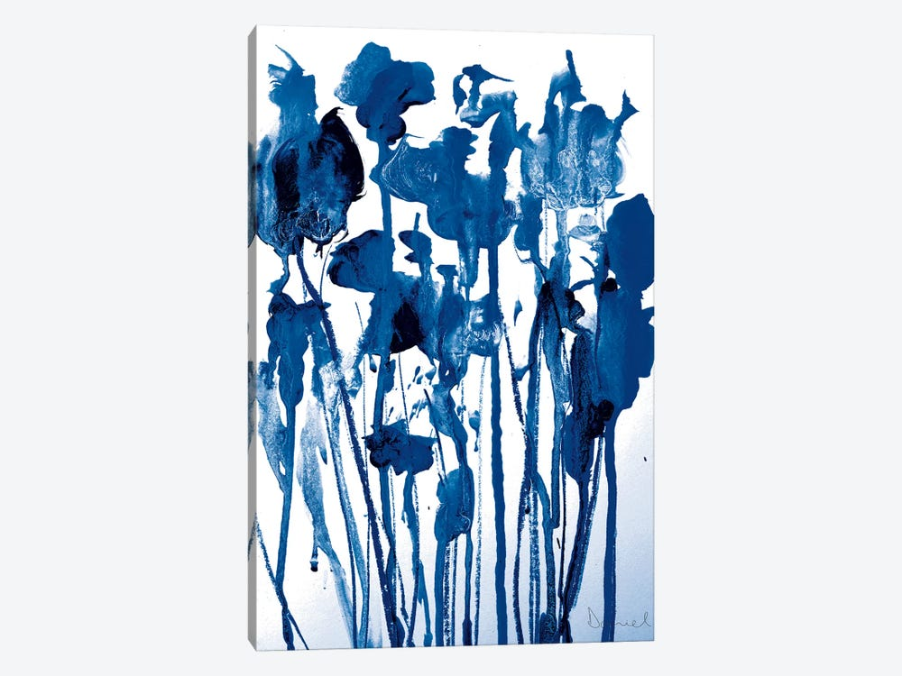 Navy Flowers by Dan Hobday 1-piece Canvas Wall Art