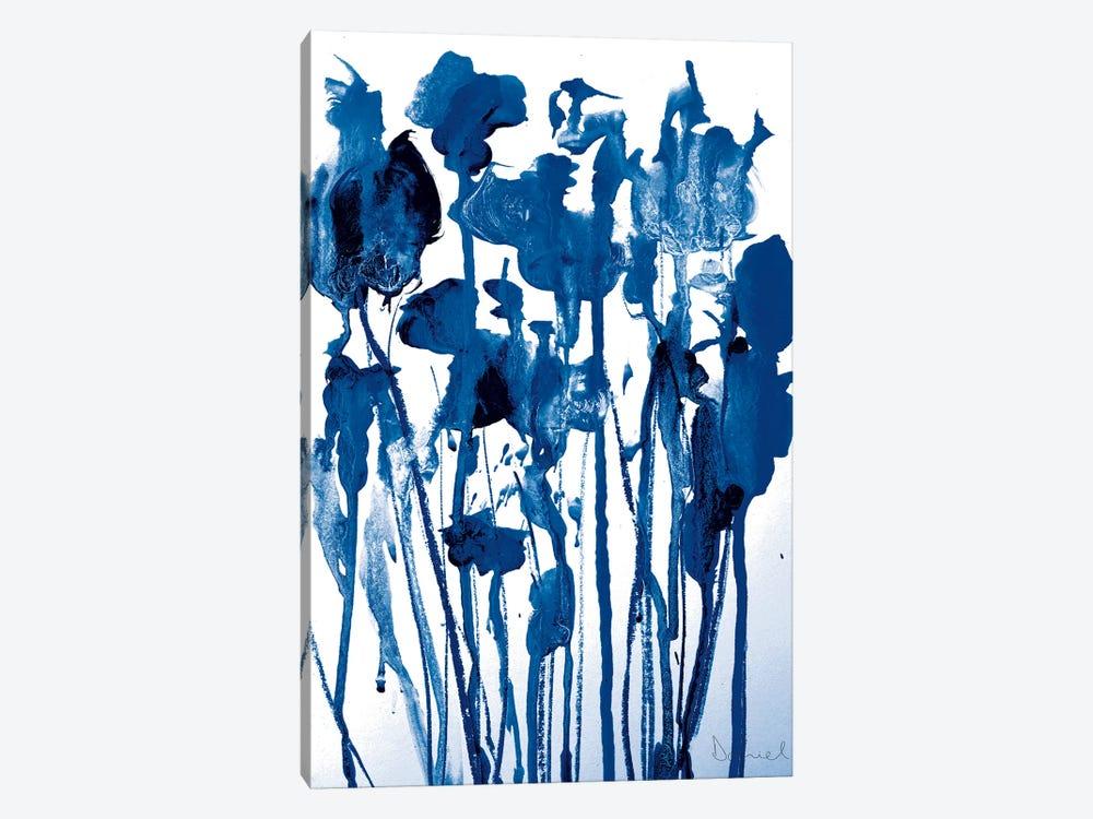 Navy Flowers by Dan Hobday 1-piece Canvas Wall Art