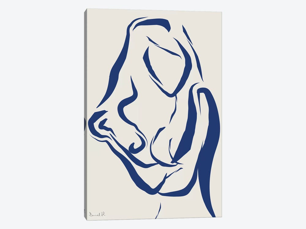 Nude Navy I by Dan Hobday 1-piece Canvas Art Print