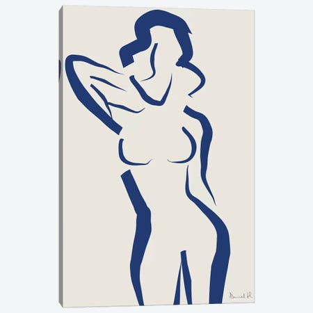 Nude Navy II Canvas Print #HOB70} by Dan Hobday Canvas Art Print