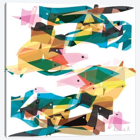 Ocean Life Canvas Print #HOB73} by Dan Hobday Canvas Print