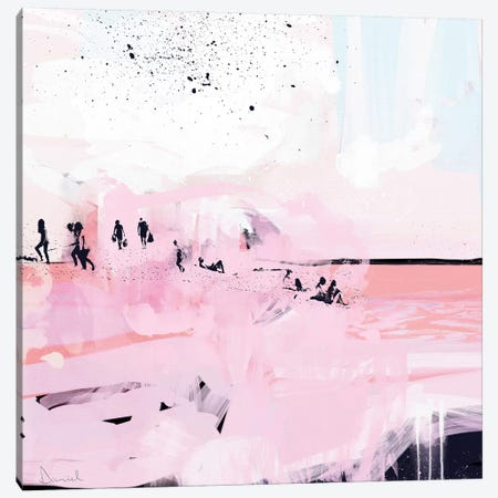 Peach Beach Canvas Print #HOB77} by Dan Hobday Canvas Art