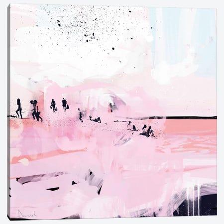 Peach Beach Canvas Print #HOB77} by Dan Hobday Canvas Art