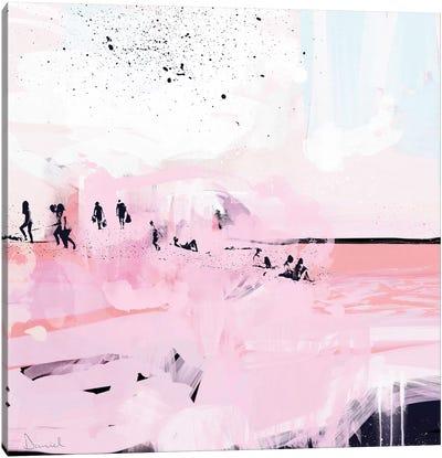 Peach Beach Canvas Art Print