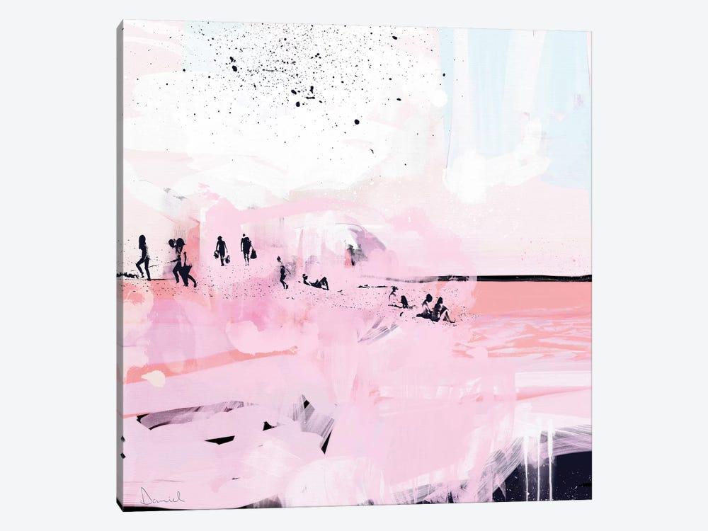 Peach Beach by Dan Hobday 1-piece Canvas Artwork