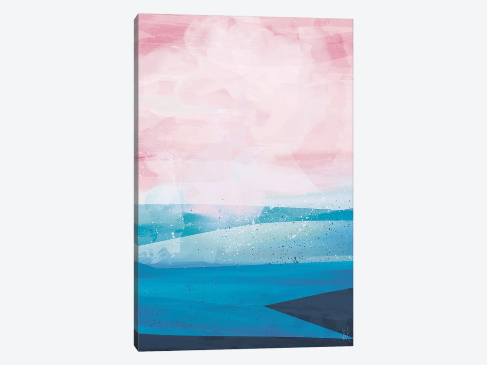 Pink Blue Sea by Dan Hobday 1-piece Canvas Artwork