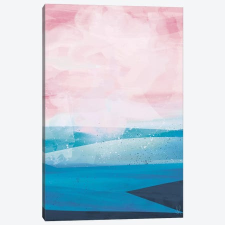 Pink Blue Sea 3-Piece Canvas #HOB79} by Dan Hobday Canvas Art Print